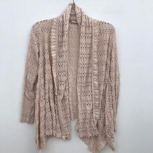 Chelsea & Violet Open Knit Cardigan #1360